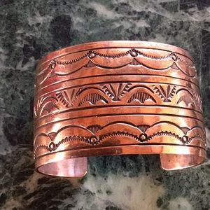 Jewelry - SOLID COPPER BRACELET NAVAJO MADE UNWORN
